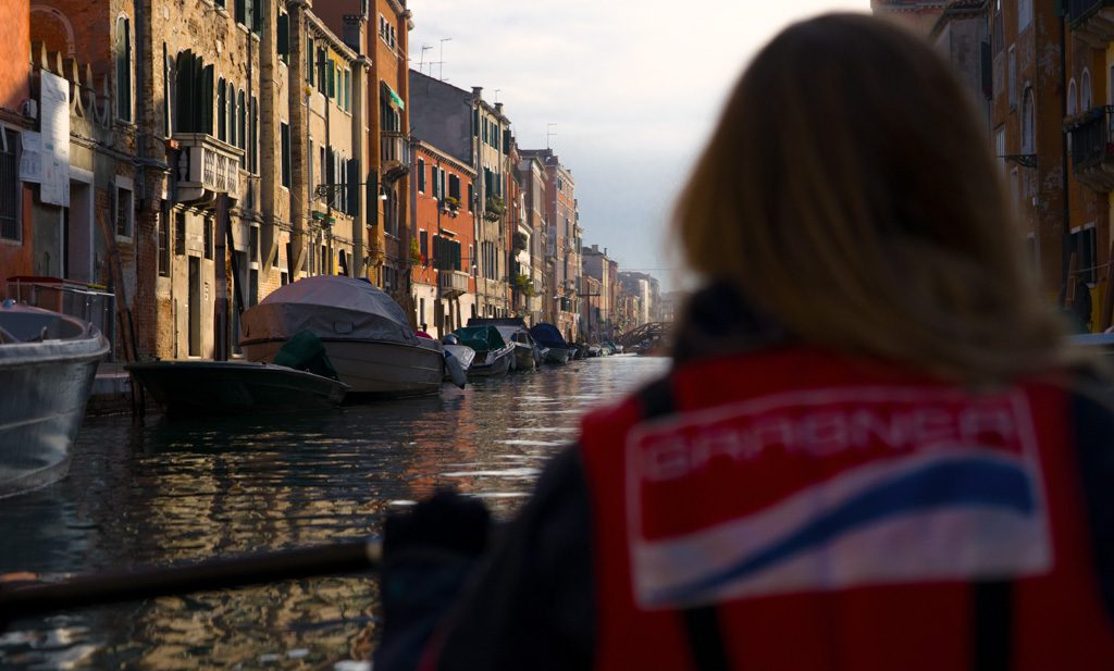 Venice by kayak- the golden light at rio della misericordia