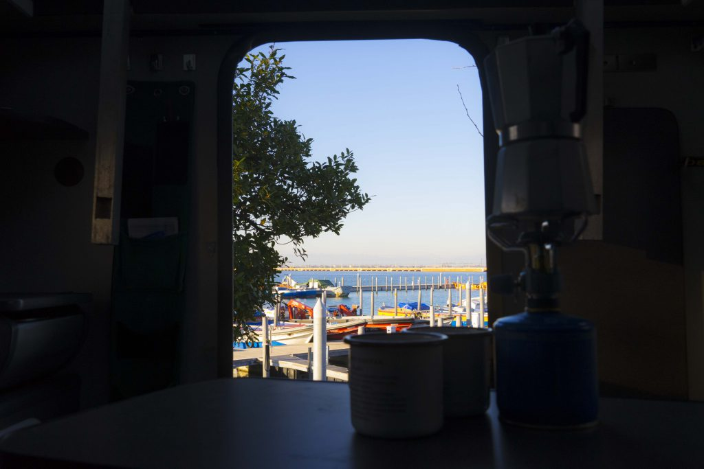 Tronchetto caravan parking lot with nice view