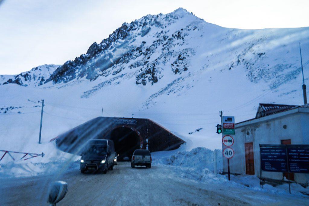 Too Ashu pass in Kyrgyzstan